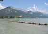 Vue sur la lac d''Annecy et sa plage privée
