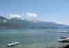 Le lac, vue sur les Alpes