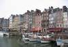 La toile de fond du vieux port &agrave; Honfleur
