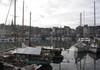Vue sur le vieux port d'Honfleur