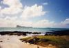 A l'île Maurice, vue sur l'île plate...