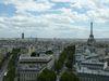 Vue sur la Tour Eiffel depuis l'Arc de Triomphe