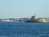Du port, vue sur la forteresse de Rhodes